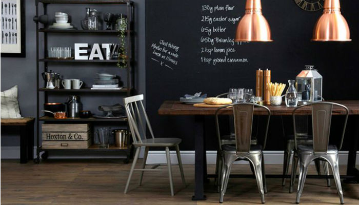 10 модных столовых в промышленном стиле