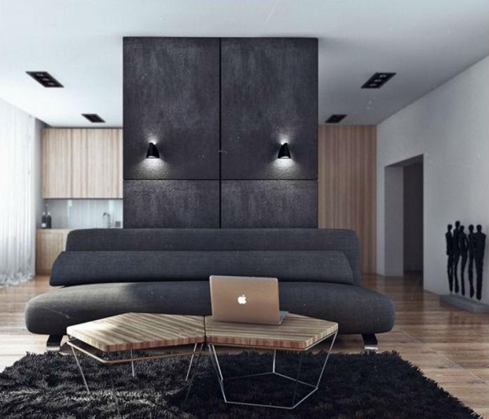 """Вдохновение """"50 оттенков серого"""" для интерьера квартиры холостяка"""