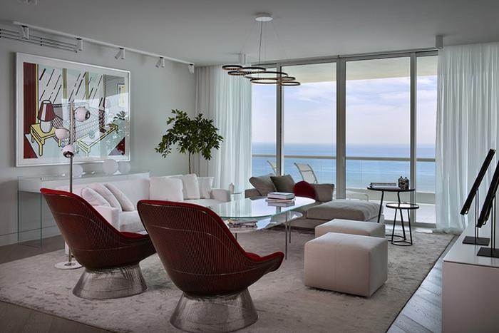 Интерьер Проект недели Квартира в Майами 01  Интерьер Проект недели: Квартира в Майами                                                                             012