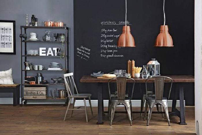 Идеи для столовой в Индустриальном стиле  Идеи для столовой в Индустриальном стиле                                                                             02