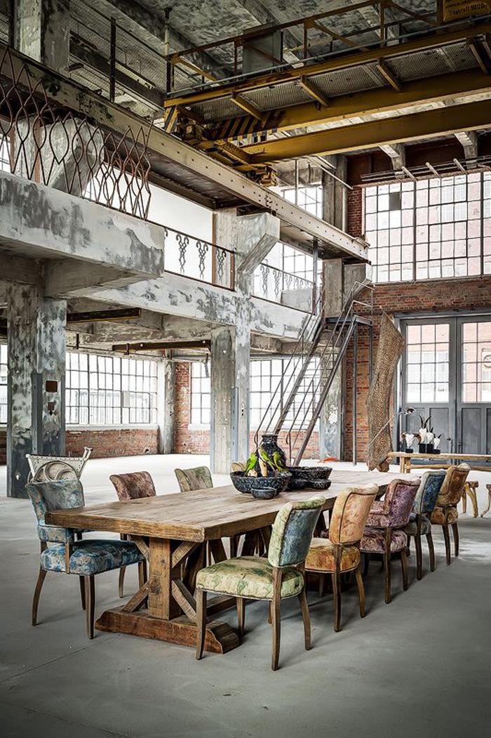 Идеи для столовой в Индустриальном стиле  Идеи для столовой в Индустриальном стиле                                                                             09