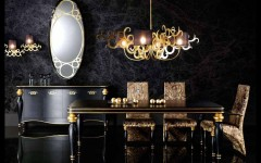 Золото и чернила – цветовой тренд в дизайне интерьеров gold black 2 240x150