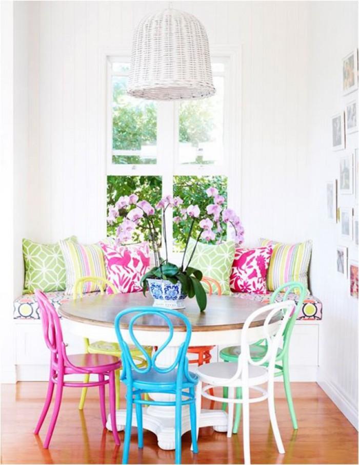 Идея винтажных современных стульев в ярких цветах  15 СОВРЕМЕННЫХ СТУЛЬЕВ 15