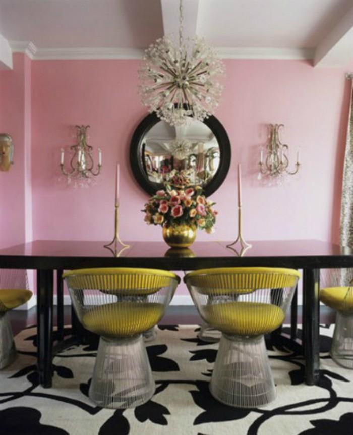 Черный обеденный стол позволит вам играть с любыми цветами в оформлении интерьера  ТОП 20 СОВРЕМЕННЫХ ОБЕДЕННЫХ СТОЛОВ 153 e1458839660878