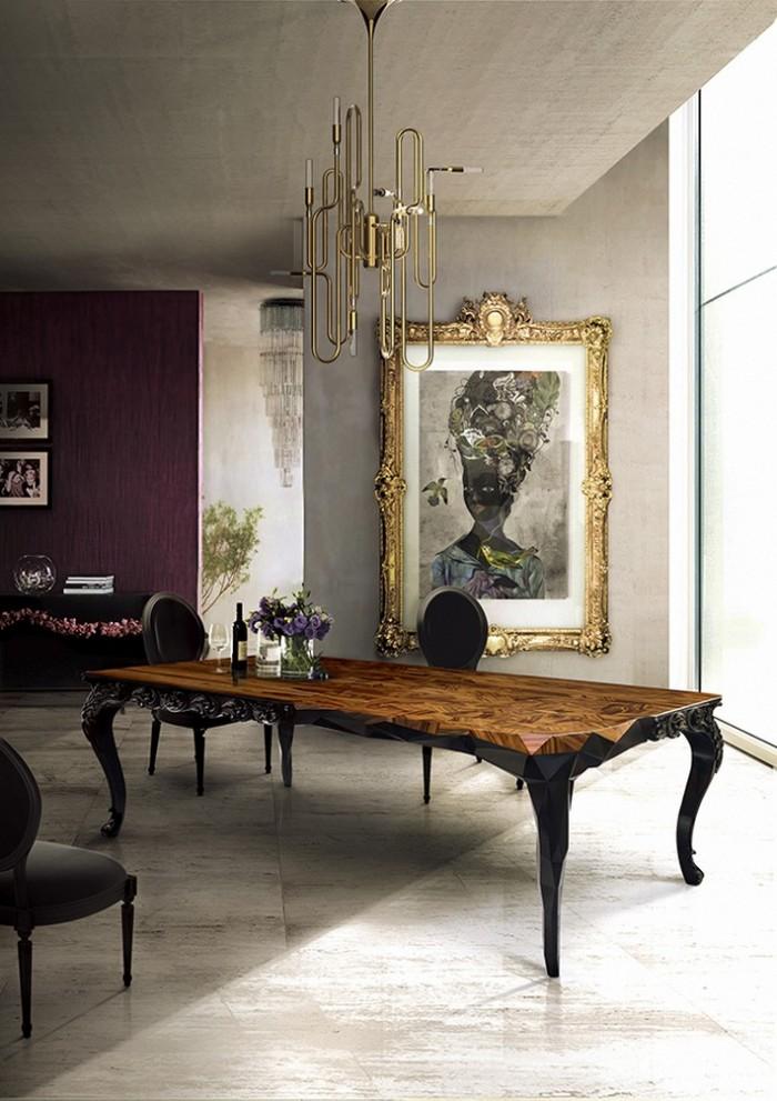Royal от Boca do Lobo - большой деревянный стол в сочетании классического и современного дизайна. Глянцевый роскошный стиль в современном обеденном столе.  ТОП 20 СОВРЕМЕННЫХ ОБЕДЕННЫХ СТОЛОВ 163 e1458839699658