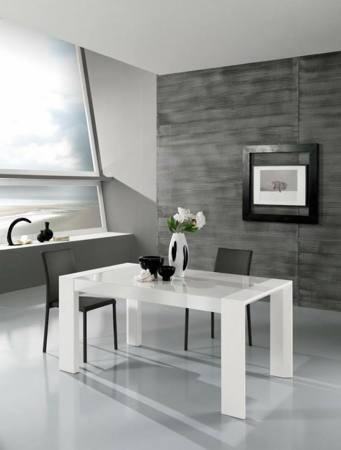 Классический белый лакированный стол с сильным прямоугольным дизайном  ТОП 20 СОВРЕМЕННЫХ ОБЕДЕННЫХ СТОЛОВ 57 e1458840837748