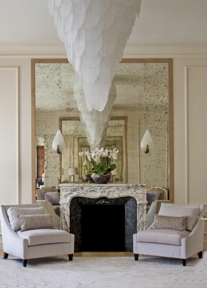 гостиная Печ - 3-3  ТОП-дизайнеры: интерьер квартиры от Марины Филипповой                         3 3