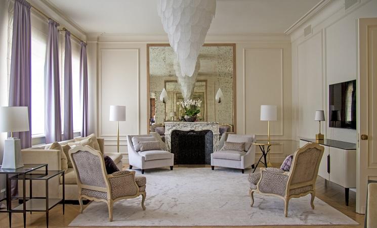 гостиная Печ - 3_5  ТОП-дизайнеры: интерьер квартиры от Марины Филипповой                         3 5