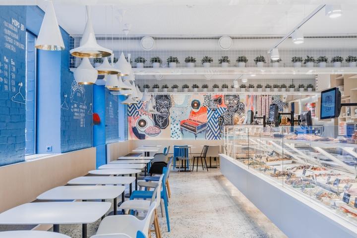 Интерьер кафе в скандинавском стиле