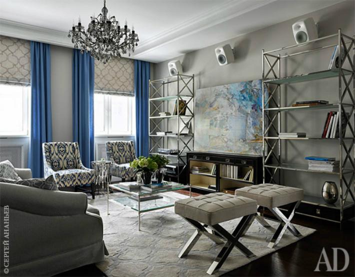 1  ТОП-интерьеры: квартира в Москве, проект Наталии Шмелевой 1 4