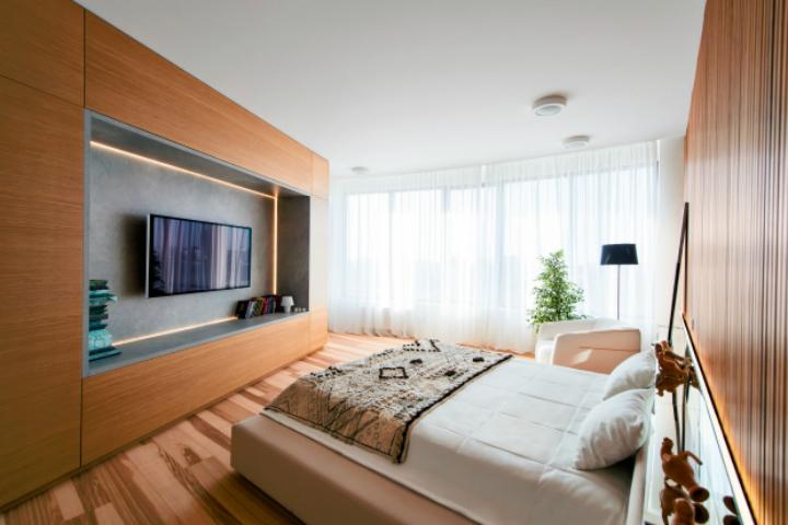 Минимализм в одном из апартаментов в ЖК Skyline 2 оформление интерьера 3 модных стиля в оформление интерьера - мнение эксперта                                                                          Skyline 2