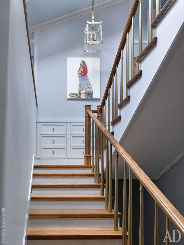 лестница  Стильный проект таунхауса в Подмосковье