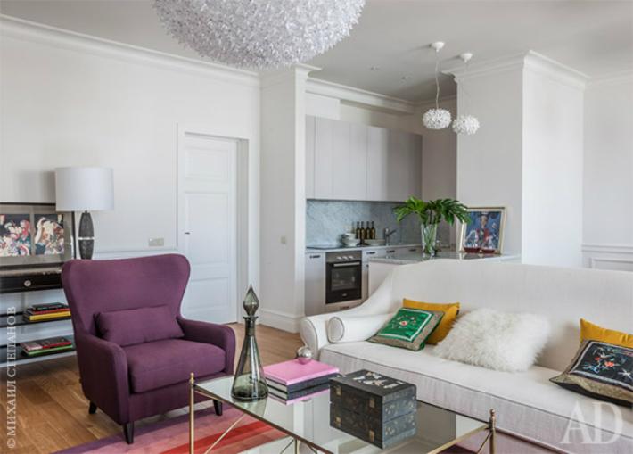 4  ТОП-дизайнеры: универсальный интерьер московской квартиры от Марины Брагинской 4 2