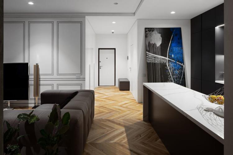 Эклектика в интерьере - квартира в ЖК SKYLINE