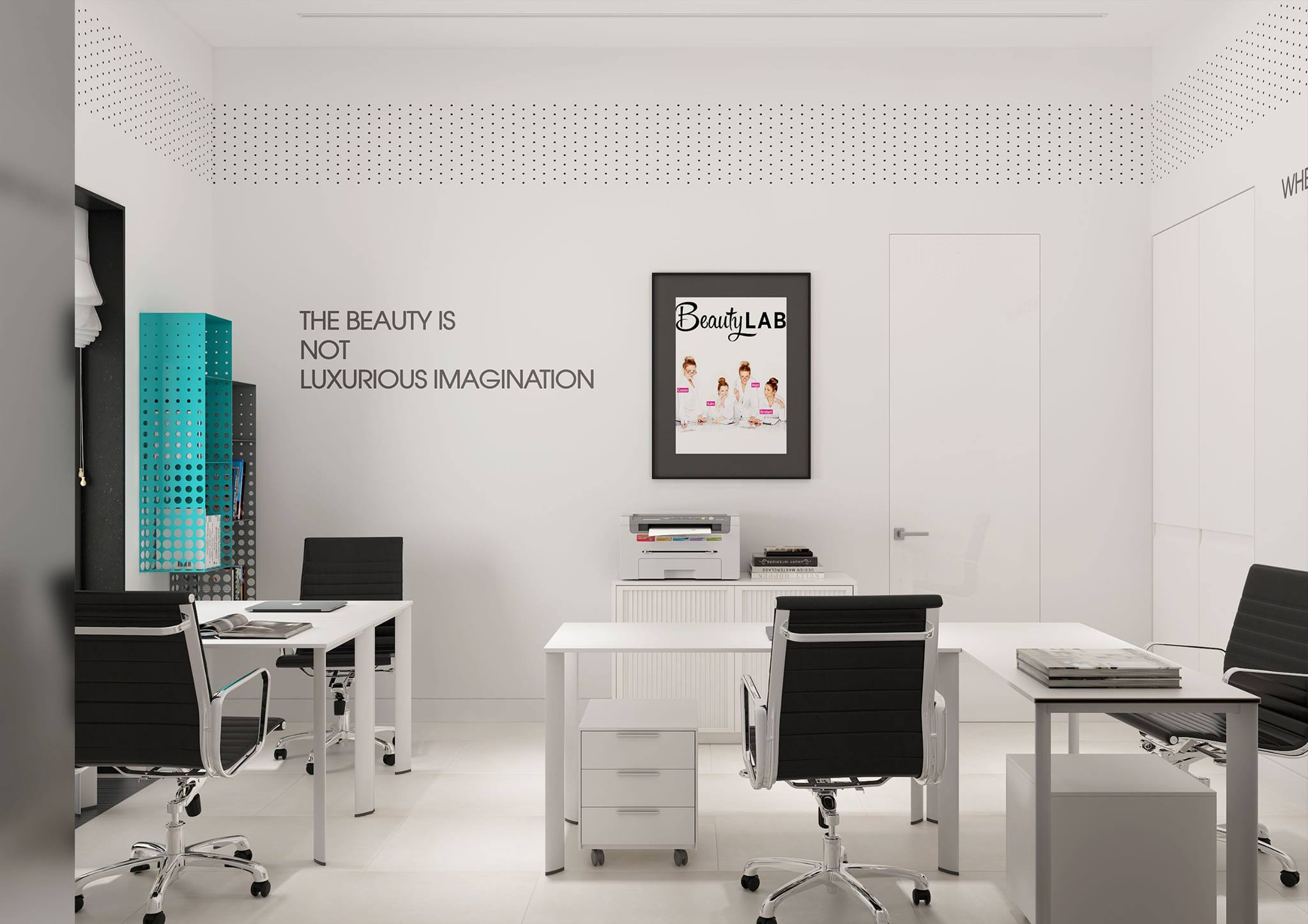 интерьер офиса  Салон красоты в Астане - проект Натальи Большаковой 12970966 894397244013216 1417975855999433874 o