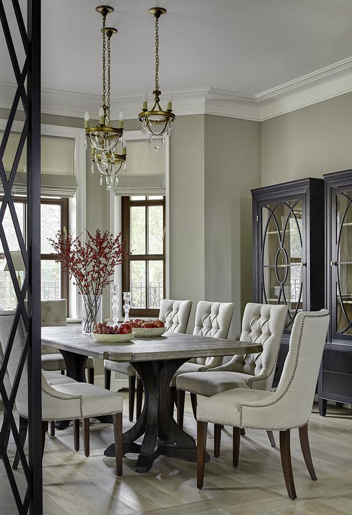 столовая американский стиль Классический американский стиль дома в Москве - Владислава Гравчикова 2