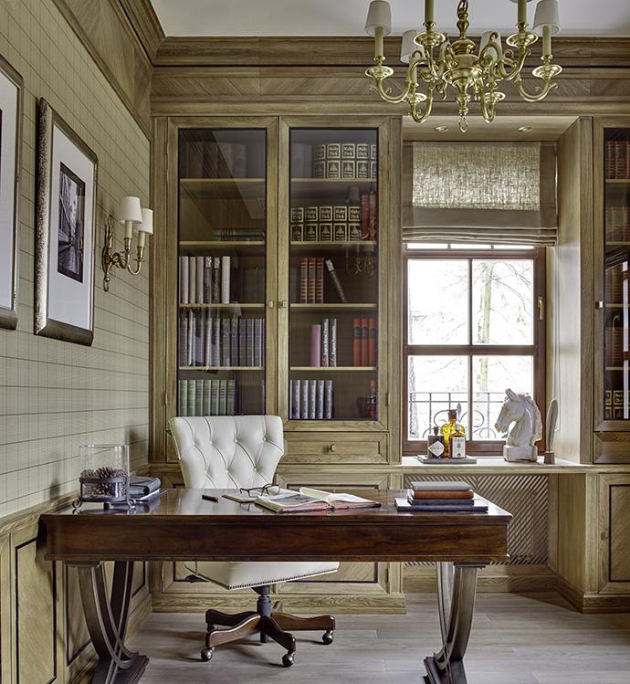 кабинет американский стиль Классический американский стиль дома в Москве - Владислава Гравчикова  0xc0a83925 13327896711458908114