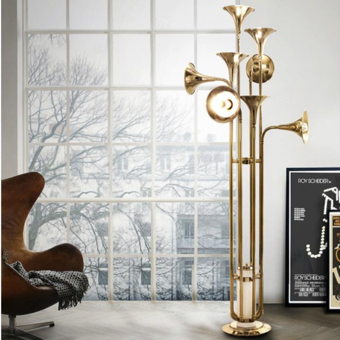 botti delightfull современных напольных светильников 10 ярких современных напольных светильников для вашего дома Art Creative Delightfull Horn font b Chandelier b font font b Floor b font font b