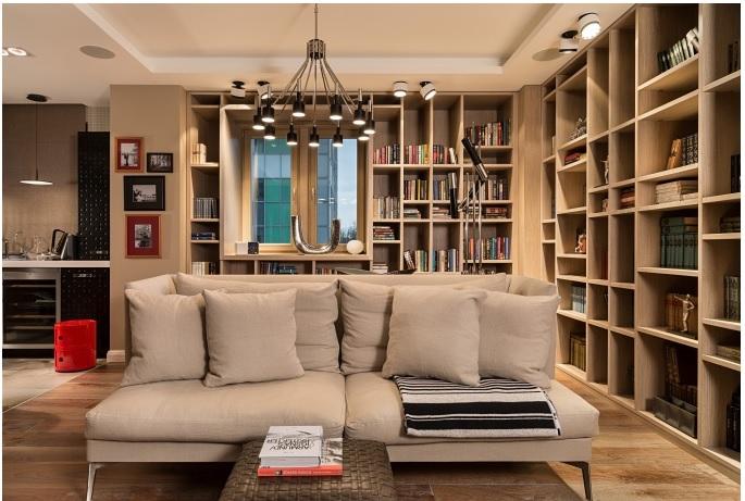 Квартира с библиотекой - дизайне интерьера Татьяна Стащук