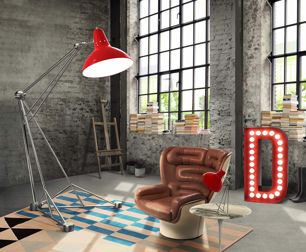 Diana DelightFULL современных напольных светильников 10 ярких современных напольных светильников для вашего дома diana floor giant colorful loft studio vintage industrial lamp 02