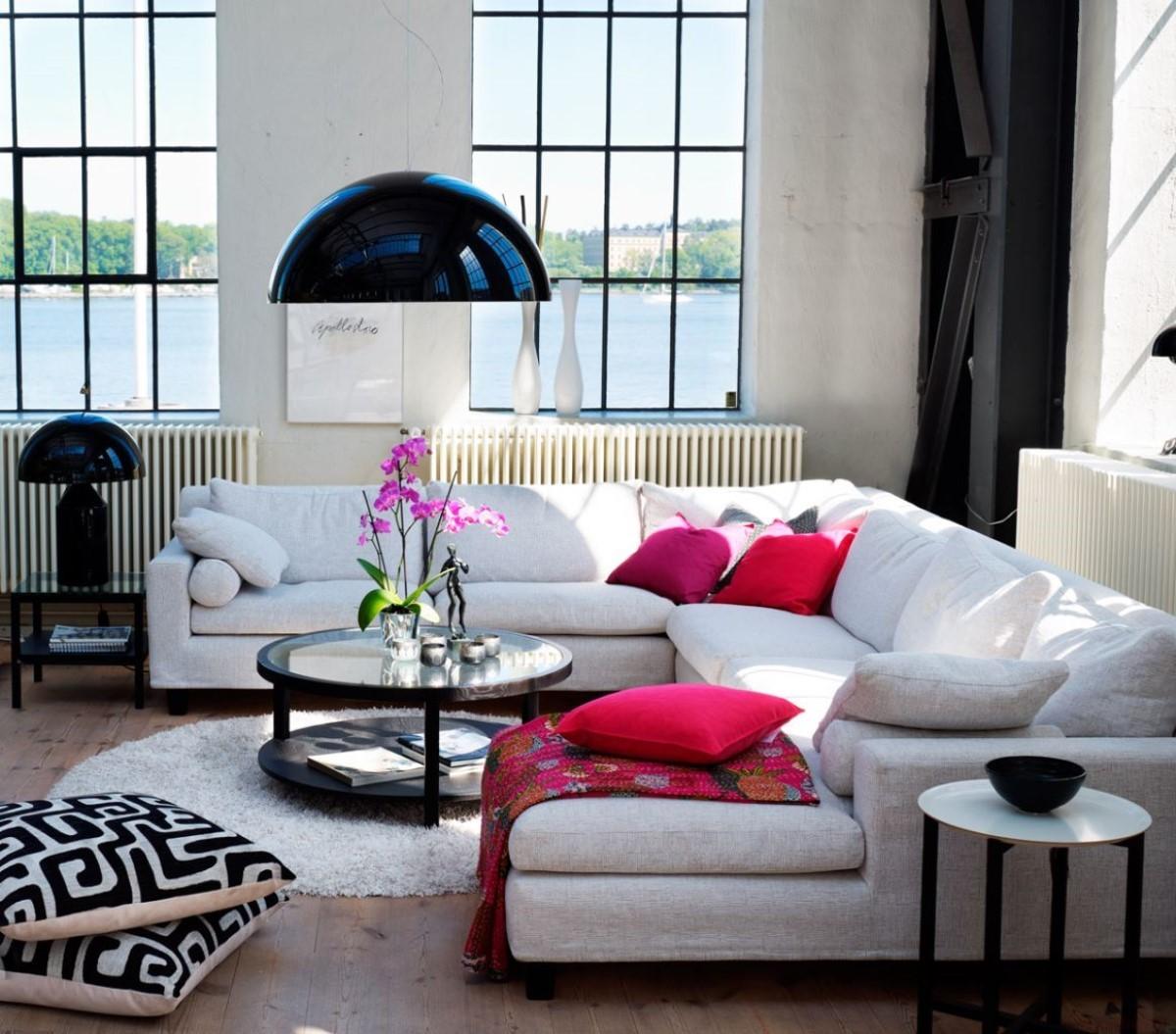 гостинная в скандинавском стиле