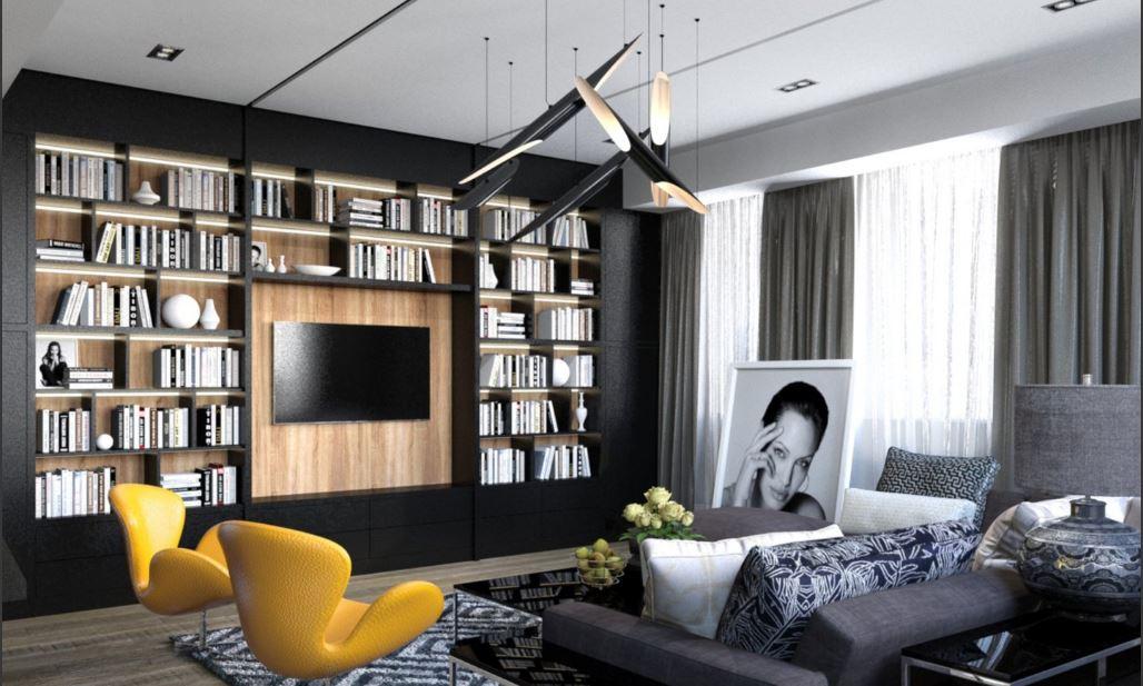 современная квартира   Современная квартира в Москве – проект Ирины Котовой Capturar2 1