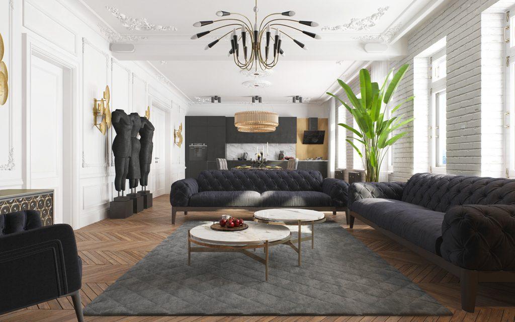 Квартира для художника - 3 варианта дизайна Квартира для художника Квартира для художника – 3 варианта дизайна Zhyltsov Dmitriy 1 1024x640