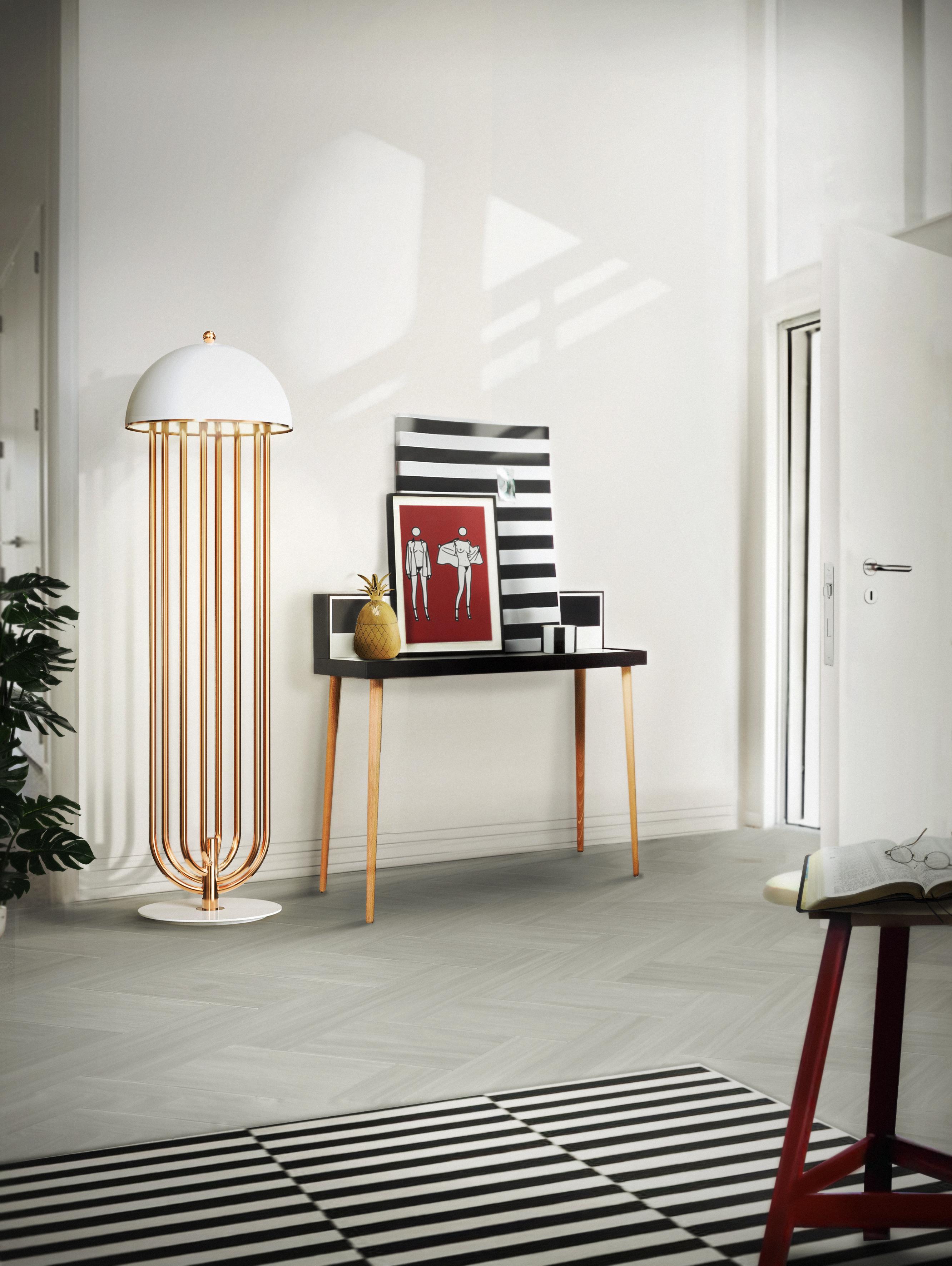 лучшие советы  Как превратить помещение в дом: лучшие советы delightfull turner art deco floor hotel lounge corner lamp 01