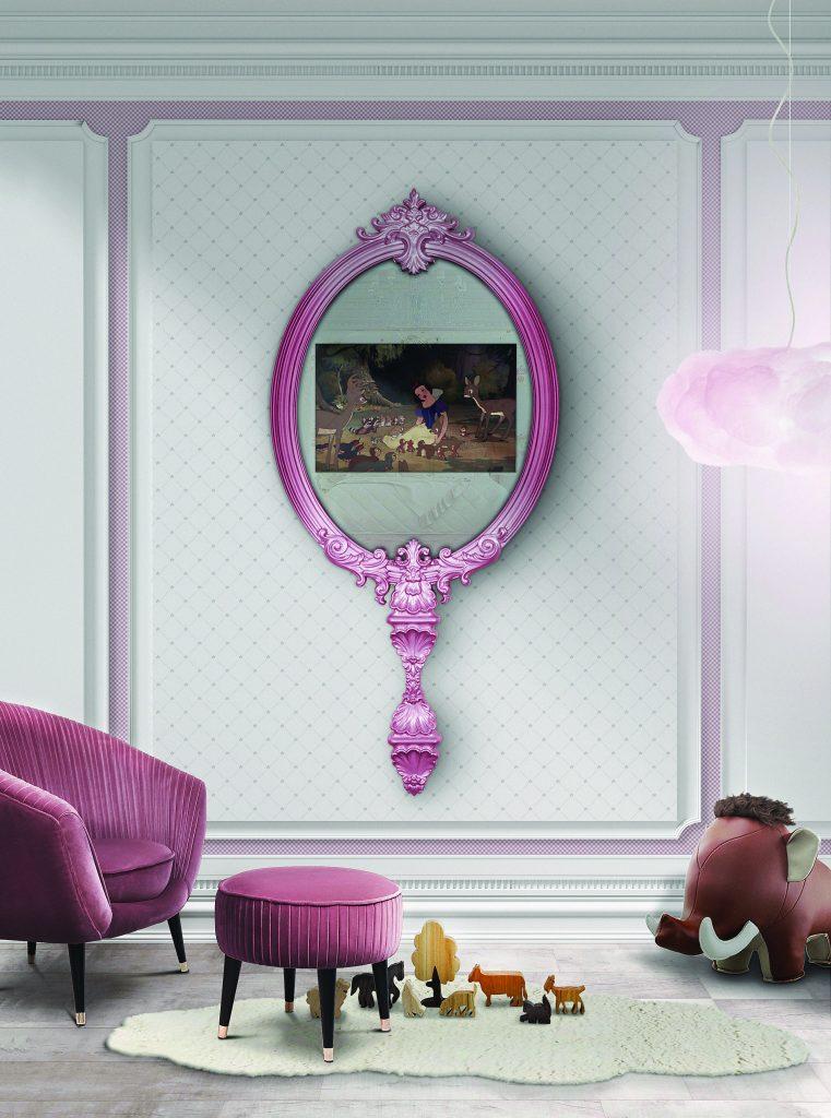 Интерьер детской комнаты в стиле Disnay Land  Интерьер детской комнаты Интерьер детской комнаты в стиле Disneyland - 7 идей для вдохновения magical mirror ambiente front