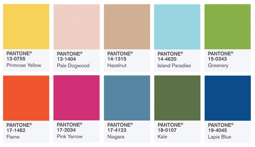 ТОП-7 популярных мудбордов для дизайнеров в оттенках Pantone 2017