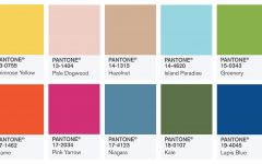 Pantone 2017 ТОП-7 популярных мудбордов для дизайнеров в оттенках Pantone 2017 pantone color swatches fashion color report fall 2017 240x150