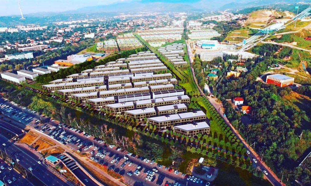 Esentai City - новый эко-микрорайон в Алмате, Казахстан