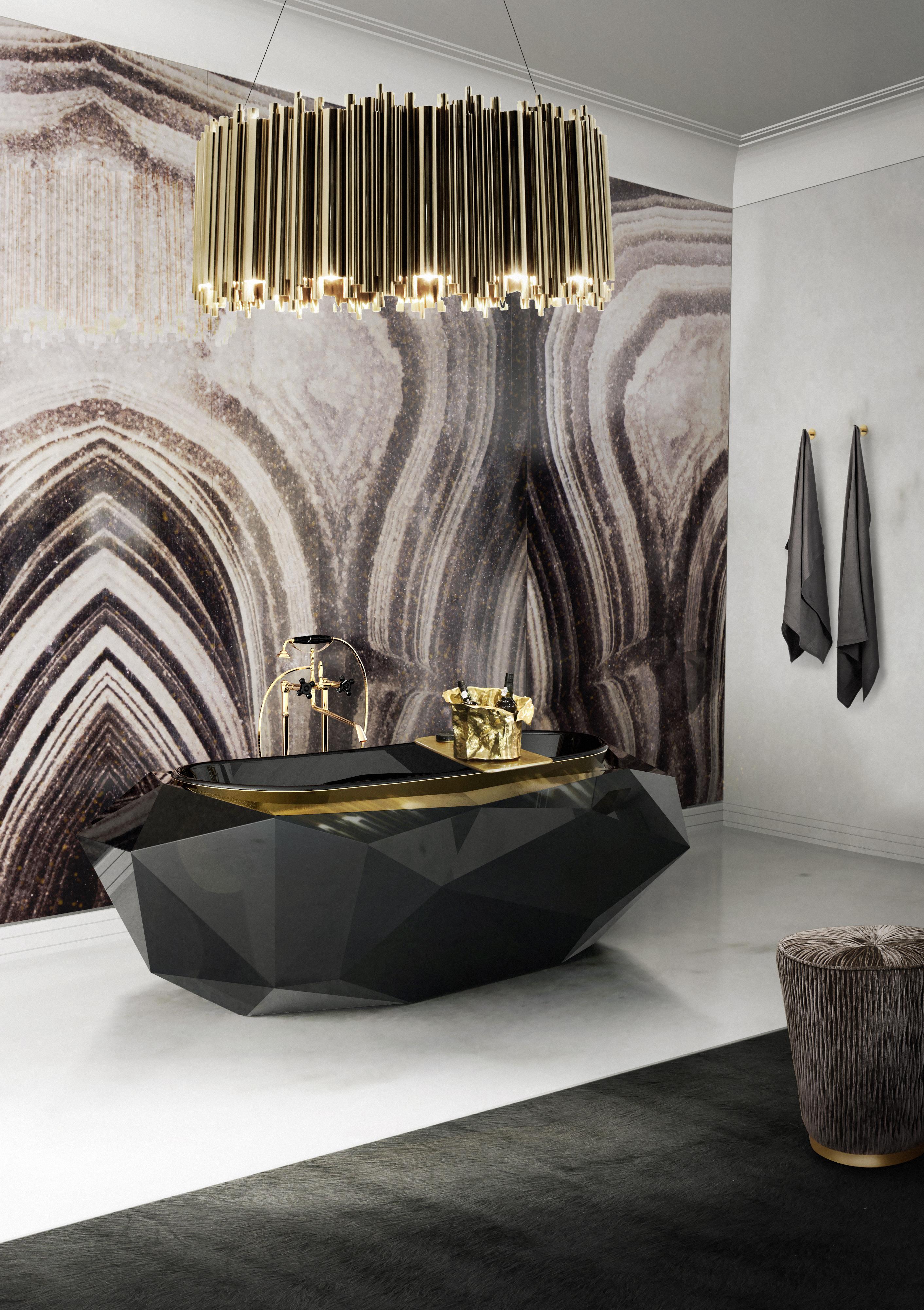 Роскошная ванная комната - 7 дизайнерских идей Роскошная ванная комната Роскошная ванная комната - 7 дизайнерских идей 9 diamond bathtub matheny suspension maison valentina HR