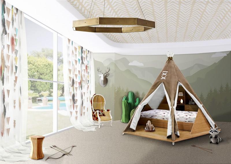 Мебель мечты от Circu детской Мебель для детской – воплощение мечты от Circu teepee room ambience circu magical furniture 01