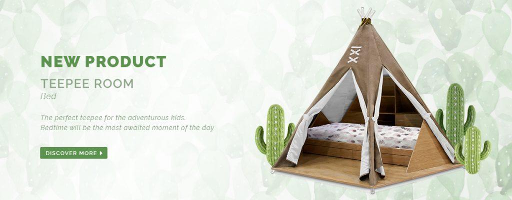 детской Мебель для детской – воплощение мечты от Circu teepee room bed circu magical furniture 1024x401