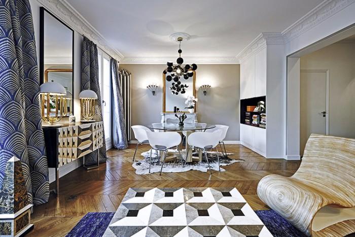 парижской квартиры 1  Оп-арт в интерьере парижской квартиры 2 3