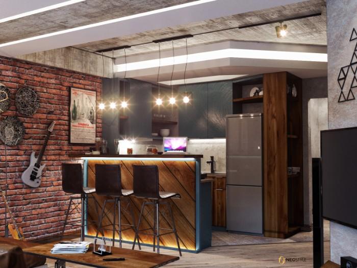 в стиле лофт для вечеринок 3  Необыкновенная квартира в стиле лофт для вечеринок 3