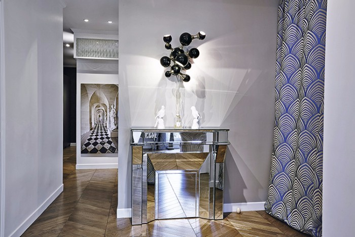 парижской квартиры 3  Оп-арт в интерьере парижской квартиры 4 3
