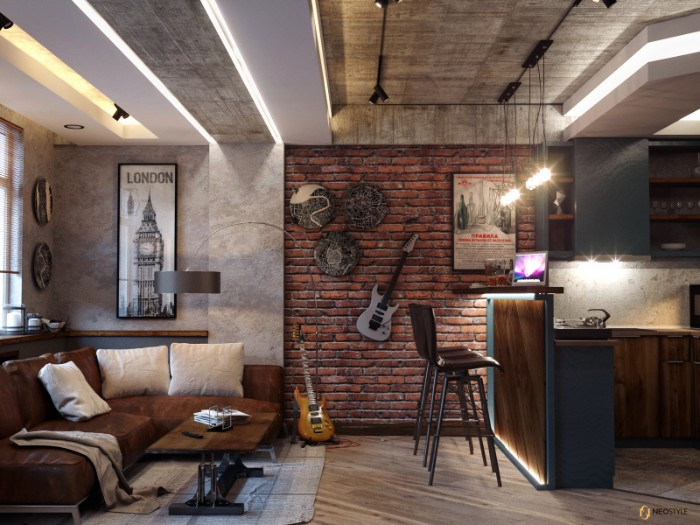 Необыкновенная квартира в стиле лофт для вечеринок 5