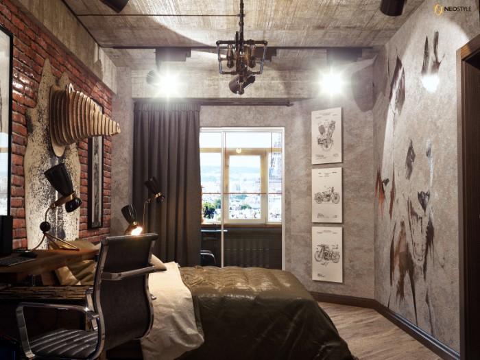 в стиле лофт для вечеринок 4  Необыкновенная квартира в стиле лофт для вечеринок 7