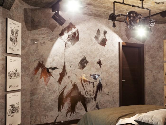 в стиле лофт для вечеринок 5  Необыкновенная квартира в стиле лофт для вечеринок 8