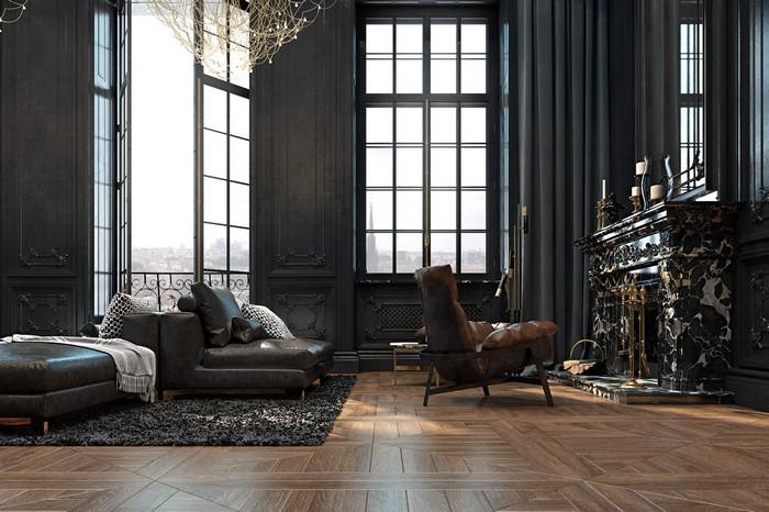 Квартира в Париже  Квартира в Париже от дизайнеров Ирины Джемесюк и Виталия Юрова 9c288827604799