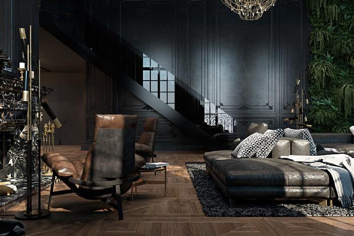 Квартира в Париже  Квартира в Париже от дизайнеров Ирины Джемесюк и Виталия Юрова a6e8ba27604799