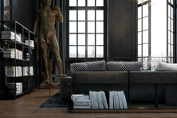 Квартира в Париже  Квартира в Париже от дизайнеров Ирины Джемесюк и Виталия Юрова b0fd8c27604799