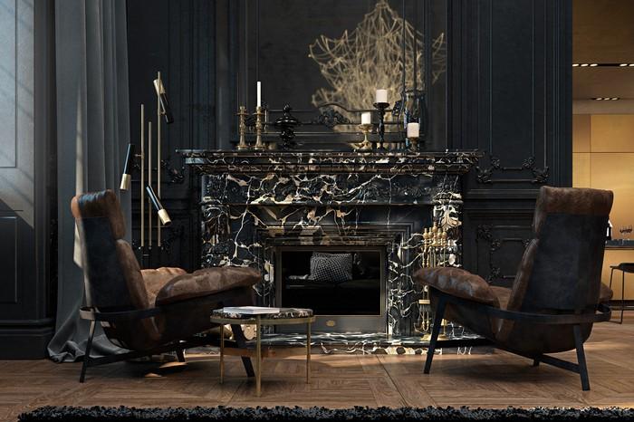 Квартира в Париже  Квартира в Париже от дизайнеров Ирины Джемесюк и Виталия Юрова b9338c27604799