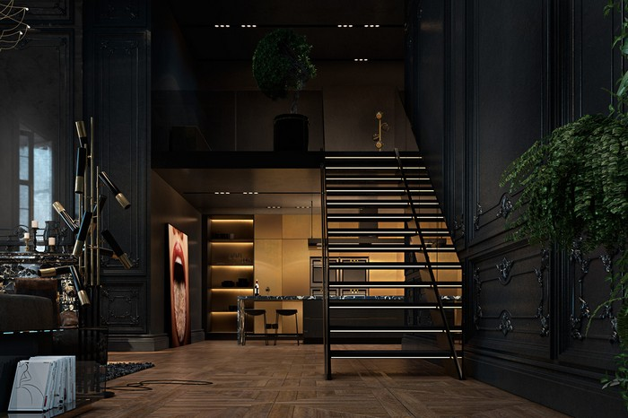 Квартира в Париже от дизайнеров Ирины Джемесюк и Виталия Юрова fae26627604799