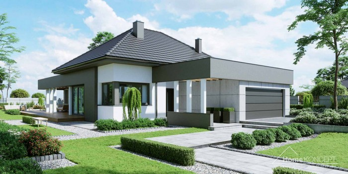 Проект дома Проект дома от студии HomeKONCEPT HomeKONCEPT 46 zdjecie 1 1024x512