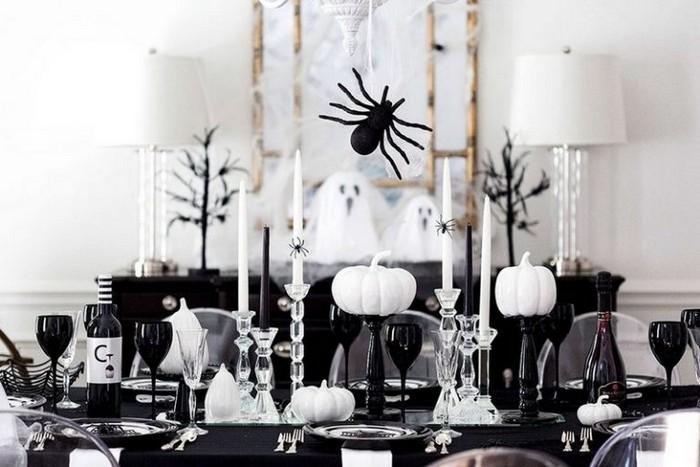 декорирование столов на хэллоуин