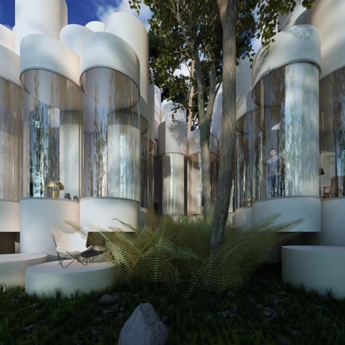 Невероятный дом  дом Невероятный дом из цилиндров в Лионе  Quality97  Quality97 2 1