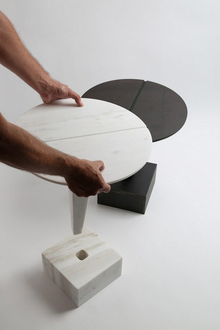 маленькие боковые столики Миниатюрные боковые столики от Ричарда Ясмина Nail Shaped Side Tables by Richard Yasmine7